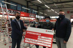 Spendenübergabe der Firma Adolf Würth